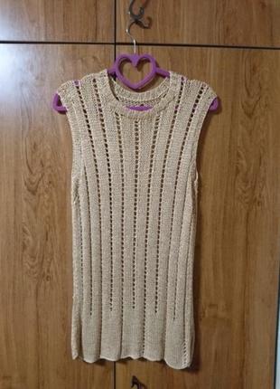 Плетеная легкая туника, ручная работа.