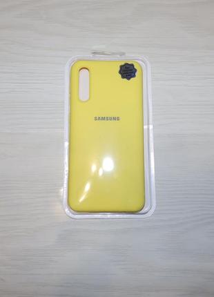 Чехол silicone case nano для samsung galaxy a50 (a505f) / a50s / a30s желтого цвета