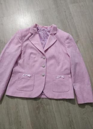Пиджак в стиле шанель плетение лён, новый
