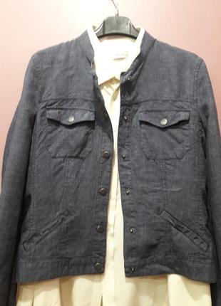 Курточка джинсового цвета-100%лен