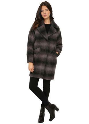 Очень крутое шерстяное пальто бойфрэнд marc new york by andrew marc серое черное