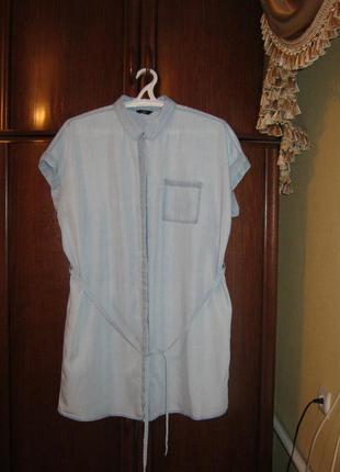 Платье-рубашка f&f, 100% лиоцелл, размер 22/50, новое с этикетками