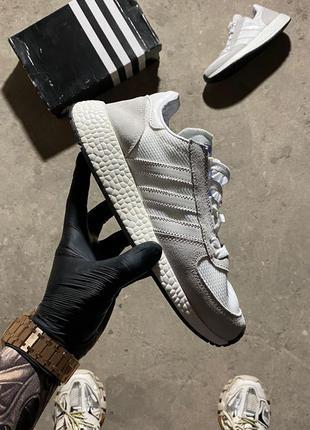 Кроссовки adidas marathon white grey