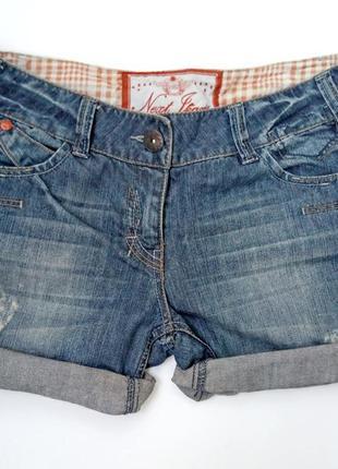 Шорты джинсовые короткие с подворотом