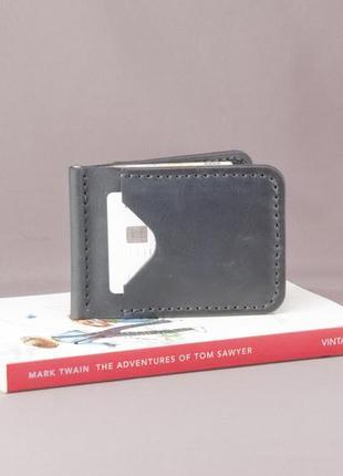 Кожаный зажим для денег ручной работы кошелек портмоне