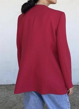 Винтажный малиновый пиджак5 фото