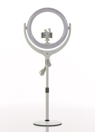 Кольцевая лампа настольная f-539 white