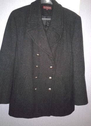Очень тёплое пальто в стиле милитари, l.o.g.g., h&m, 46-48 p