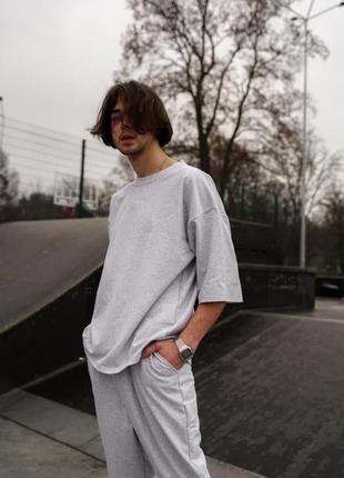 Комплект мужской на лето  eskeyo - меланж, футболка и штаны
