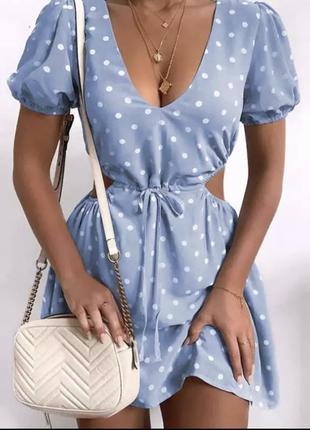 Милое платье в горошек!