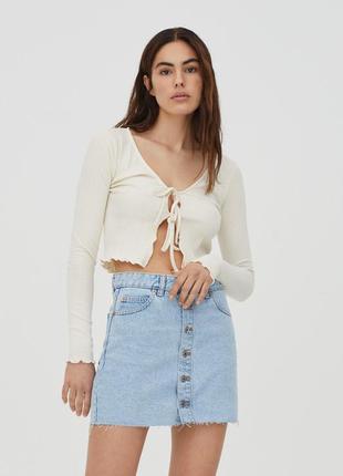 Джинсовая мини юбка pull&bear