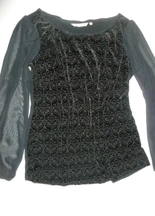 Элегантная блуза шифон панбархат трикотаж epilogue