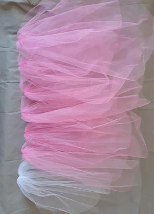 Набір 7шт фата на дівич-вечір, на девичник, розовая, свадебная фата