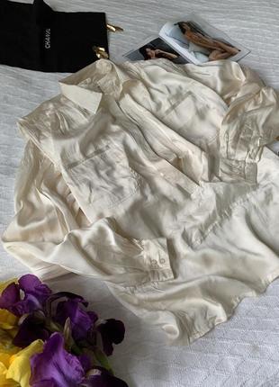 Необыкновенная шелковая блуза с эффектом многослойности
