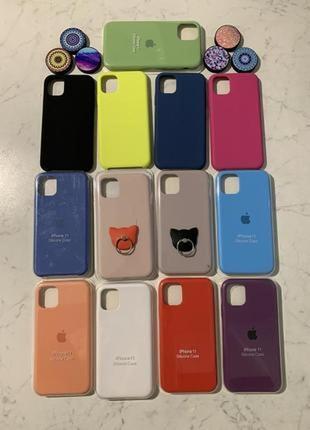 Силиконовый чехол с микрофиброй на айфон для iphone 6s/7/8/xs/xr/se 11 и 11 pro