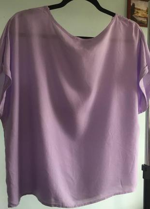 Блуза футболка лавандового цвета