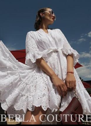 Платье berla оригинал новое натуральный батист прошва