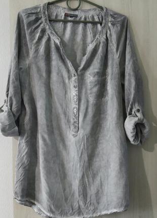 Рубашка серого цвета, вискоза