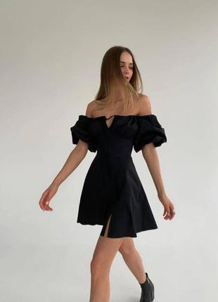 Платье рукава фонарики 2 цвета