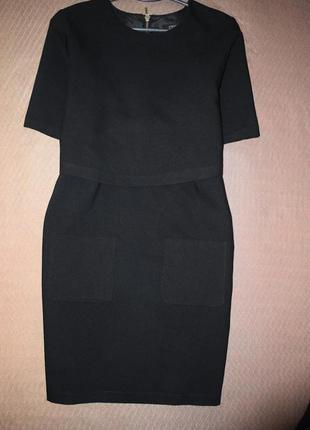 Черное базовое платье-костюм