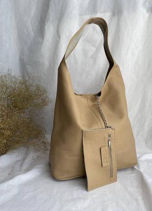 Новинка! сумка шоппер кожаная на длинных ручках производство италия сумка шопер на довгих ручках іта