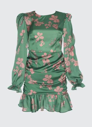 Зеленое платье trendyol