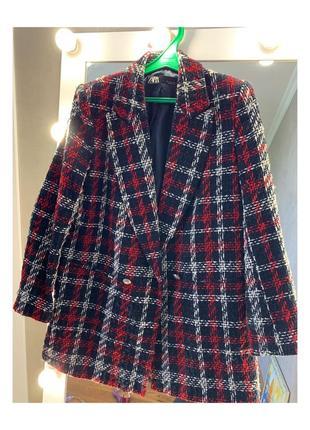 Твидовое пальто zara