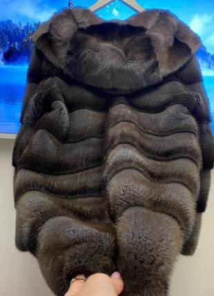 Шикарная очень густая норковая шуба. мех kopengagen размер 44/46
