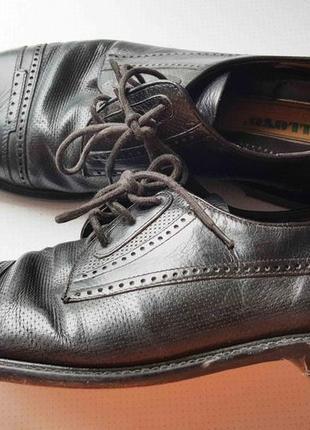 Туфли оксфорды, броги, черные кожаные