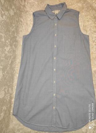 Лёгкая удлиненная рубашка h&m 40 pp