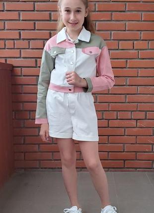 Стильний костюмчик піджачок і шорти