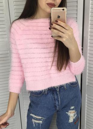 Безумно нежный мягенький свитерок травка - пушистик :)