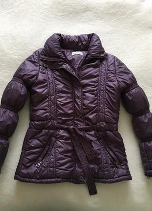 Дутая стеганная теплая куртка пуховик на осень зиму