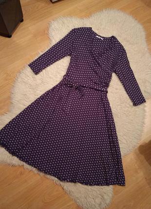 Платье m&c classic  фиолетовое назапах размер xl