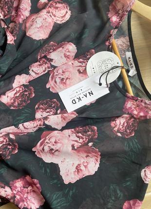 Пляжное платье под купальник актуальный цветочный принт лето 2021