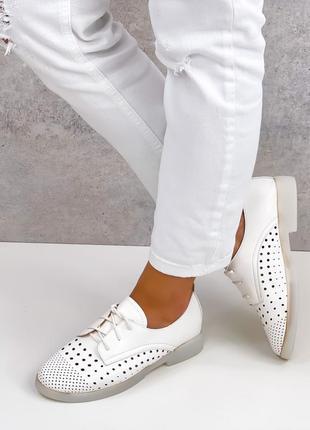 Женские туфли натур пресс кожа