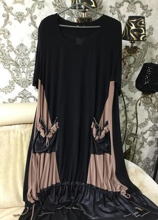 Шикарная фирменная платье размер 60 62