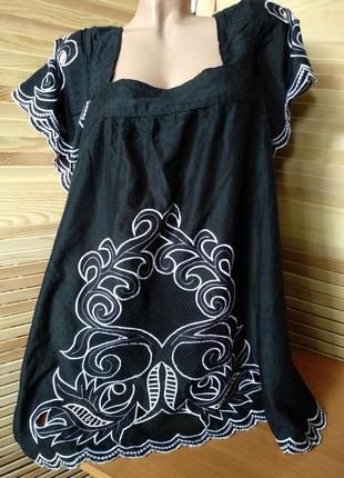 Роскошная легкая блуза с вышивкой
