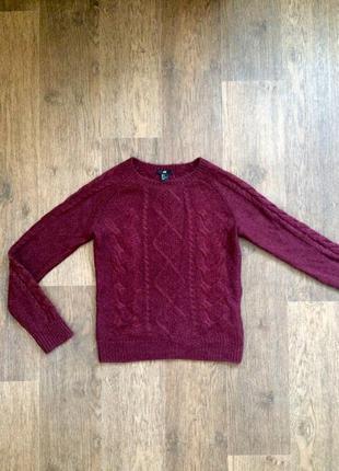 Новый свитер шерсть от h&m