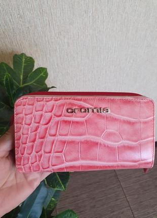 Кожаный кошелек cromia, италия, оригинал, 100% натуральная кожа
