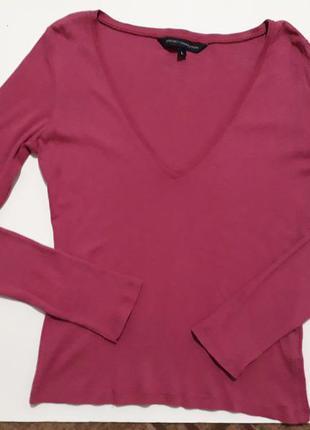 Поло с длинным рукавом розового цвета