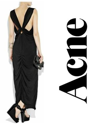 Акция!дизайнерское оригинальное вечернее макси платье с драпировкой редкость  вечірня максі сукня
