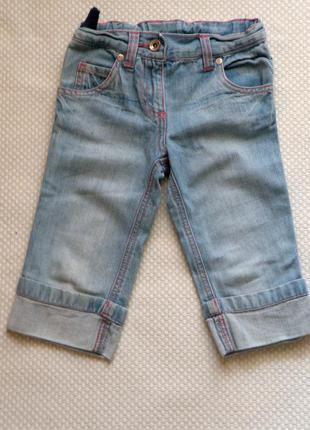 Бриджи джинсовые с вышивкой