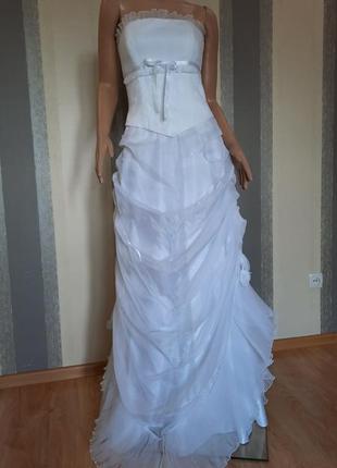 Свадебное платье, корсет и юбка. новое.