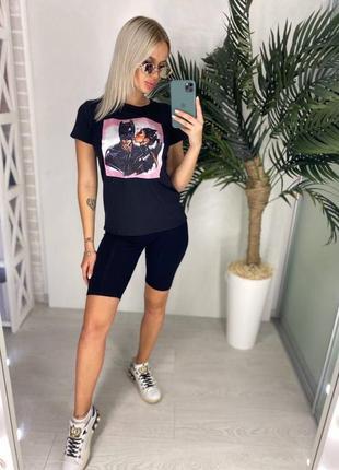 Костюм( футболка + велосипедка)