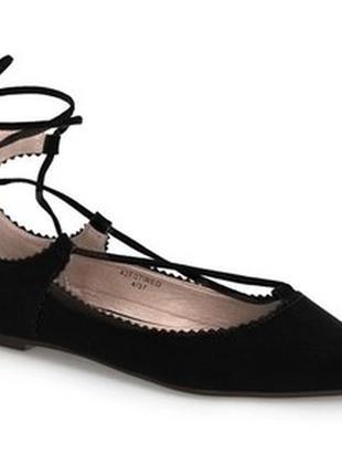 Классные трендовые туфли на шнуровке от topshop,p.40