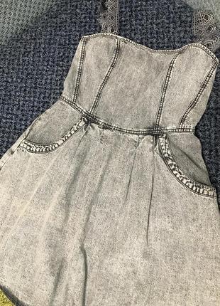 Джинсовое платье, джинсовый сарафан