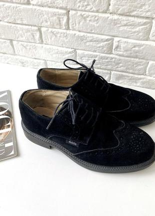 Туфли dahlin черные из замши