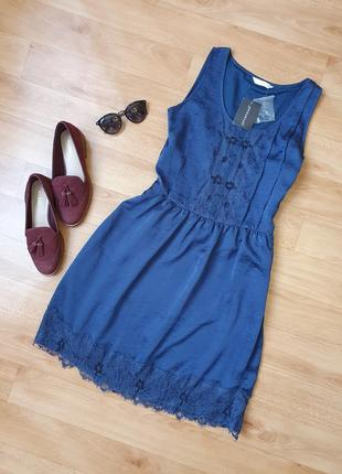 Атласное платье promod