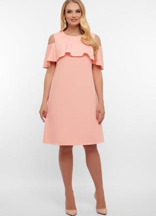 Нарядное платье с воланом
